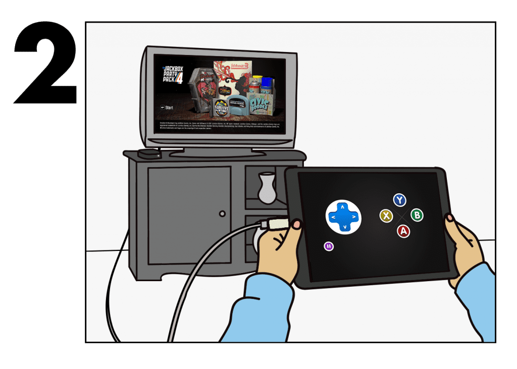 How to Play The Jackbox Party Pack 4 from your iPad to a TV… While